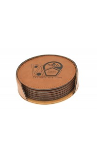 Coasters - Rawhide/Black (set of six)